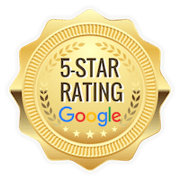 Five star rating emblem for Google that Brilliant Day has.
