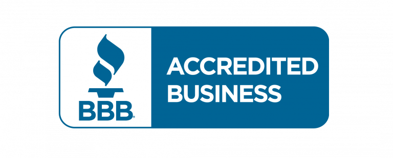 Better Business Bureau accreditation seal for Brilliant Day Homes.