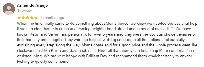 brilliant day homes reviews