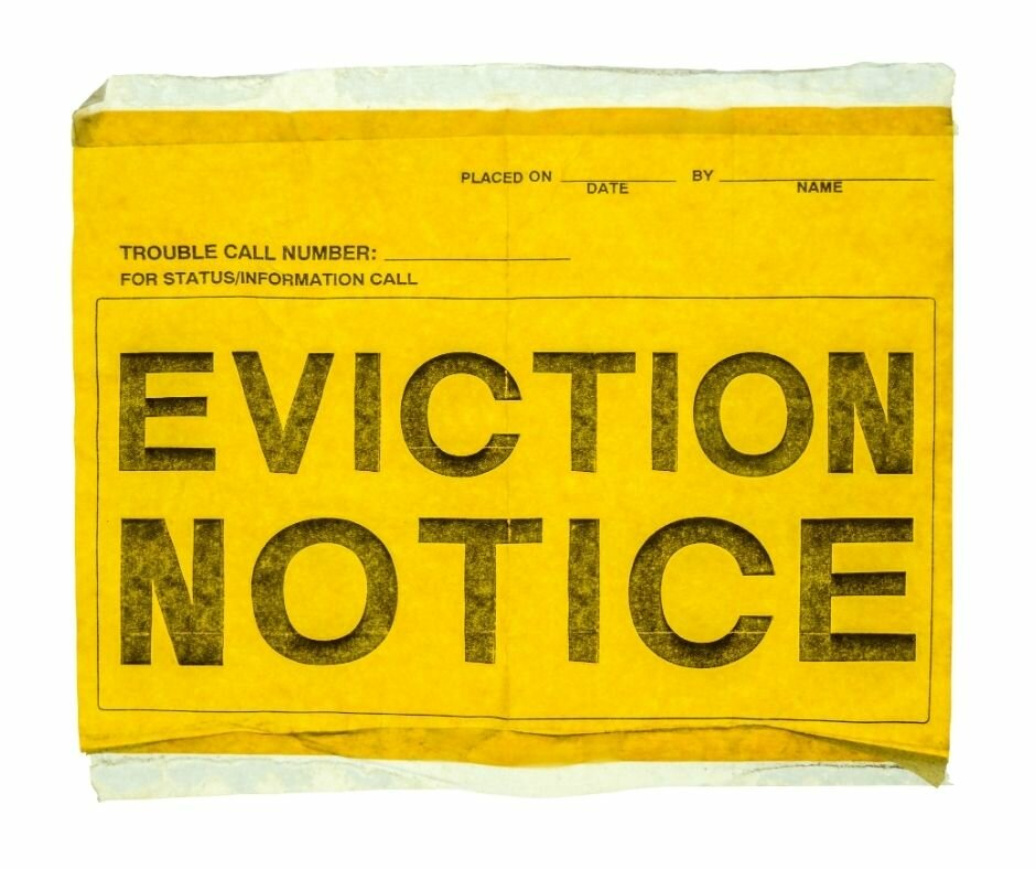 eviction notice sign in houston