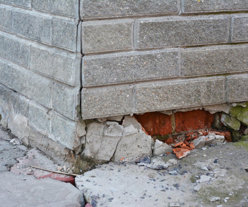 damaged foundation slab in houston