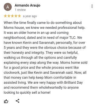 Review from Armando selling his moms house in oak forest Houston