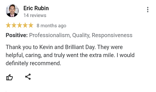 Review from Eric that we are willing to go the extra mile for home sellers.