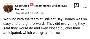 Review from Gabe that we closed on their house quick!