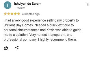 review from Ish selling his house quick.