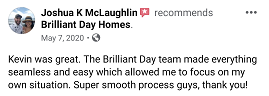 Review from Josh saying selling his property was super easy.