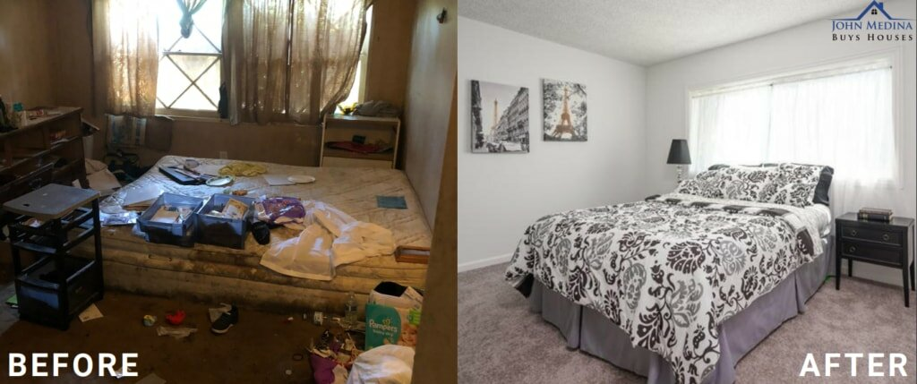Before & after shots of home sold in Orange County, CA