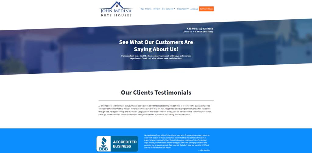 We buy houses in Orange County, CA site reviews