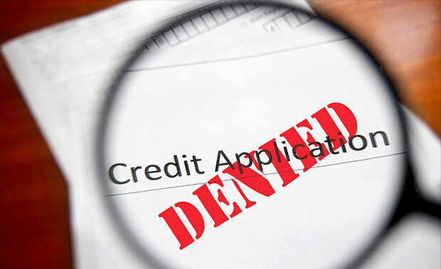 Credit application with denied on the front of it after not getting foreclosure help in greenville nc