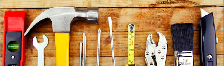 Shows tools used for expensive repairs that you should avoid when selling your house in greenville nc