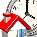 A house with a clock behind it signifying getting ready to sell your house in Greenville NC
