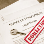 legal paper for a foreclosure notice