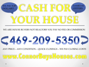 CASH FOR HOMES IN DALLAS