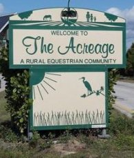 The acreage street sign