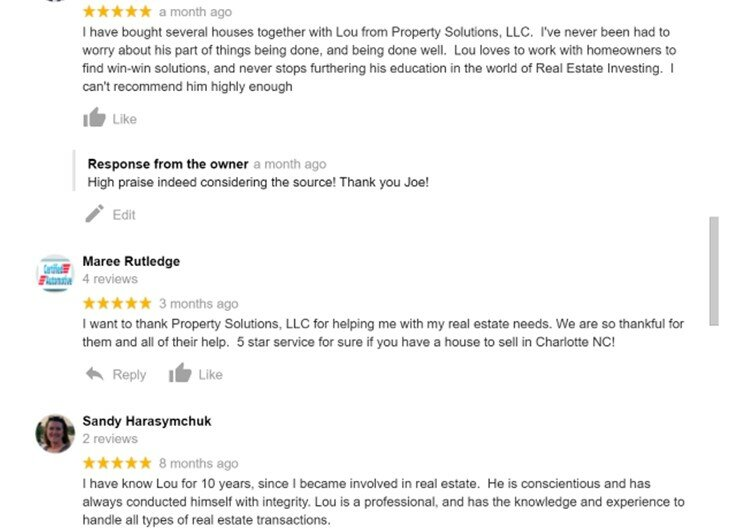 Companies that buy houses reviews pictures of testimonials.