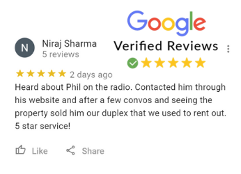 Niraj Sharma Google Review For Phil Buys Houses Fast