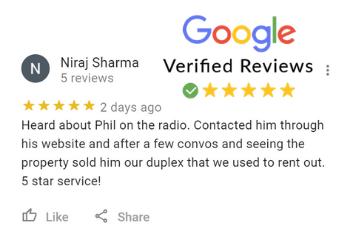 Niraj Sharma Google Review For Phil Buys Houses Fast