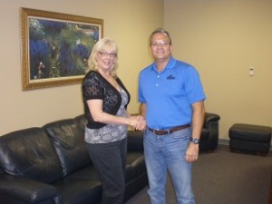 Steve & Eileen at Closing. Sell Your House Fast. Call Elvis Buys Houses Today 877-703-5847