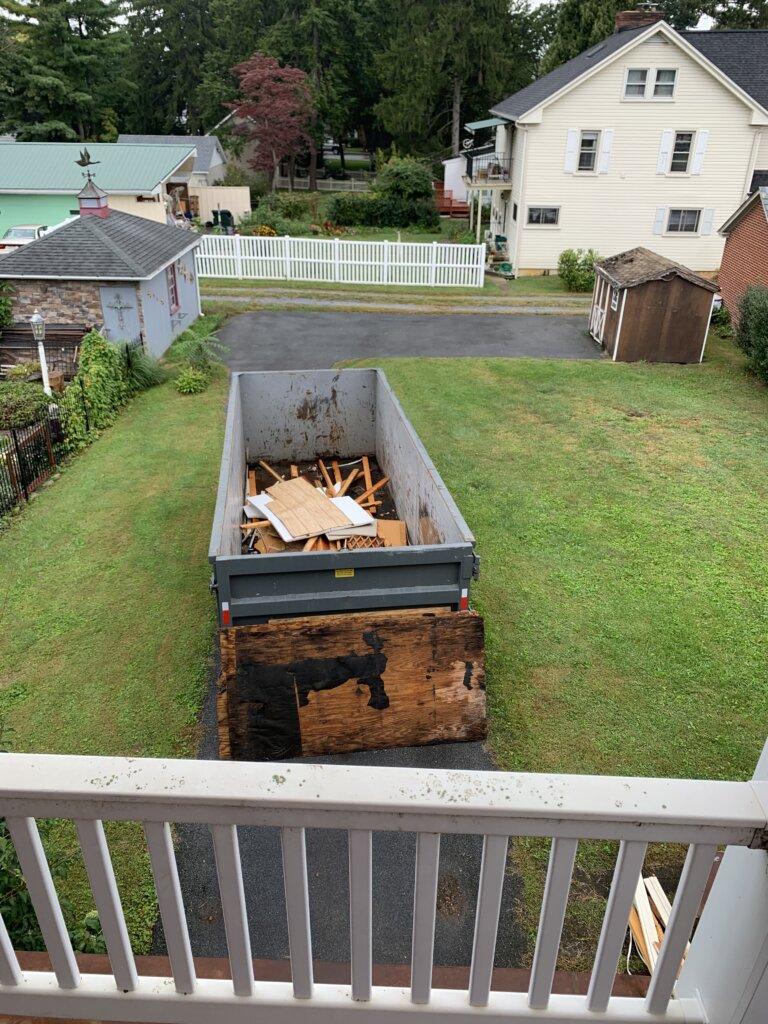 Dumpster Backyard House Renovation