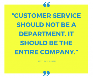 customer service should not be a department. it should be the entire company