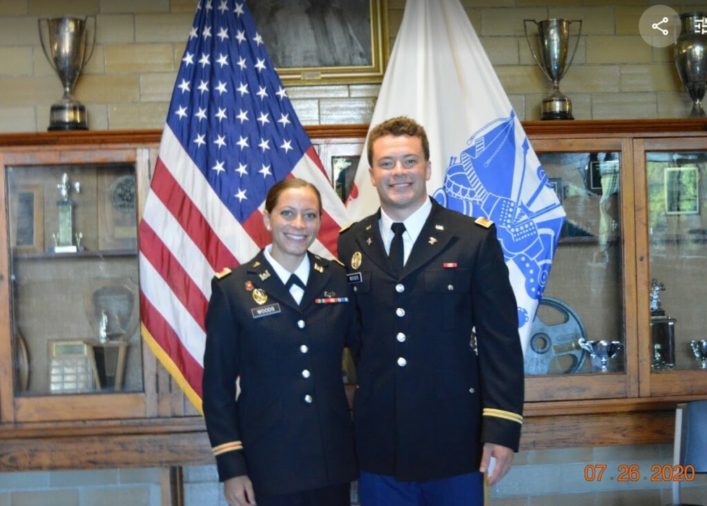 We're so very proud of our new Commissioned Army Officers: 2LT Kimberly Woods and 2LT Frank Woods!