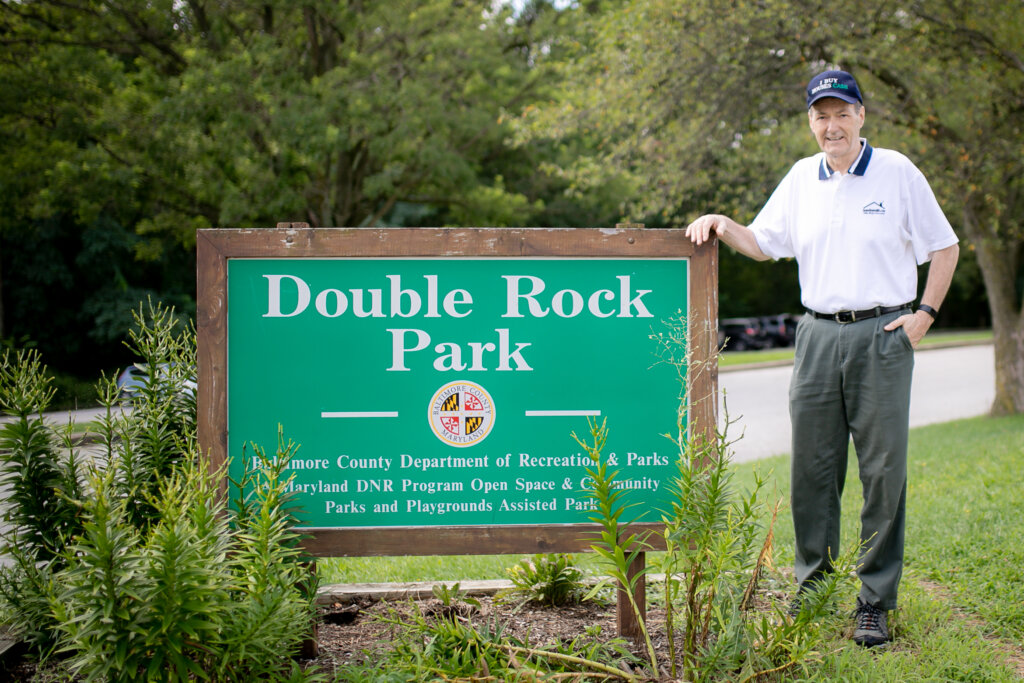 Steve Groom of Maryland Home Buyers in Double Rock Park in Parkville, Maryland.