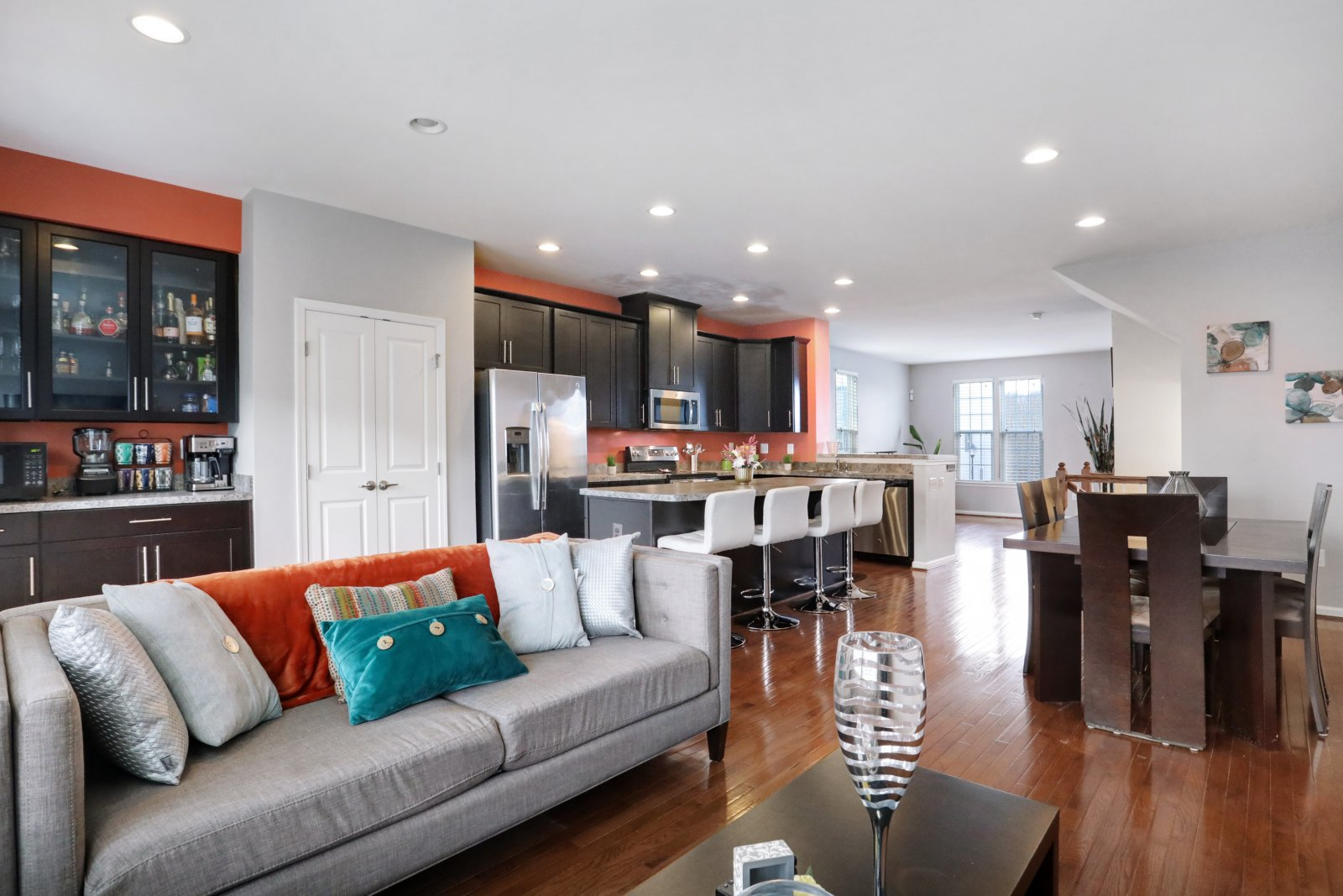 2nd level- Living room, dining room, Kitchen