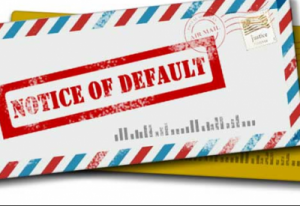 Notice of Default.
