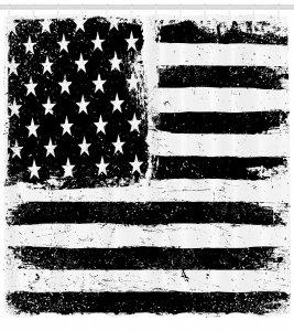 Black and White USA Flag