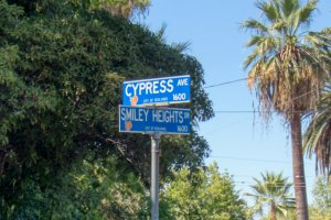 Cypress and Smiley Heights Sign