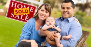 How To Take Advantage Of A Seller's Market | mixed family sold sign