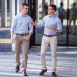 buying investment property | businessmen walking