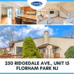 250 Ridgedale Ave., Unit I5, Florham Park NJ
