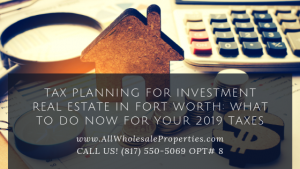 Tax Planning For Investment Real Estate