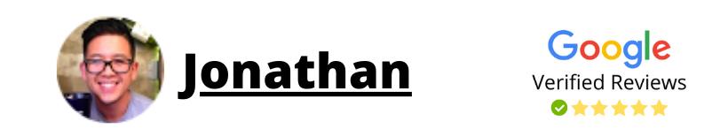 Jonathan Google Review