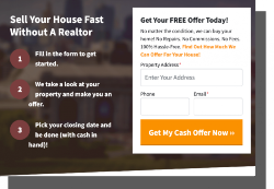 Cash Offer page Screen Shot
