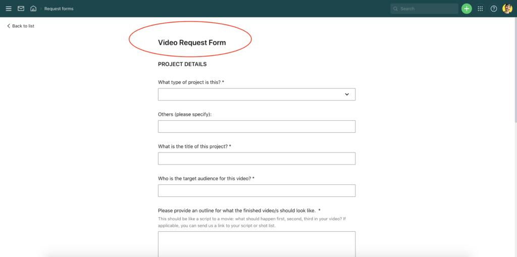 Submit videos through video husky wrike