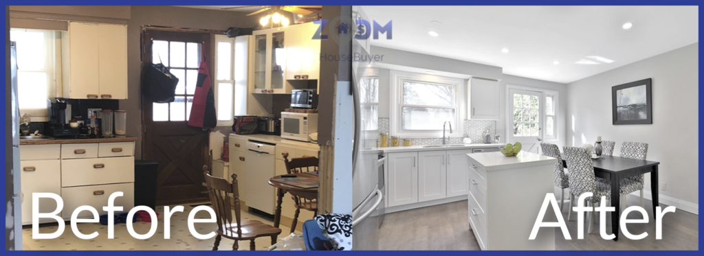zoom house buyer before and after renovation