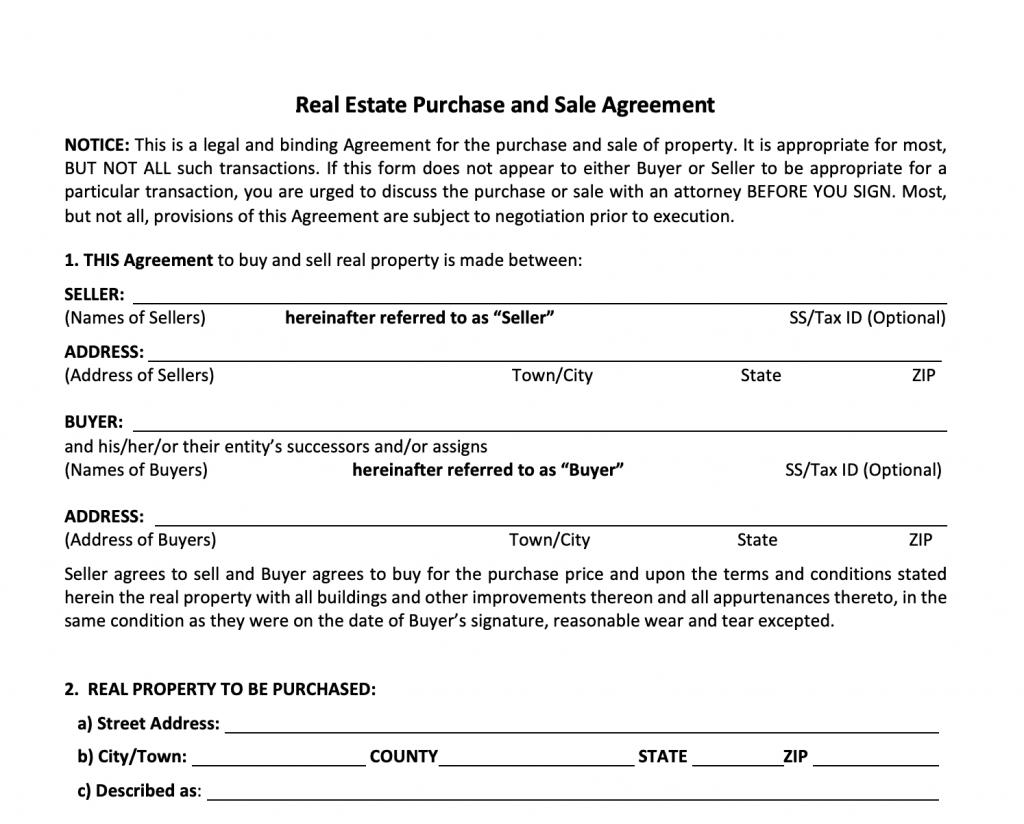 Simply Sold Agreement
