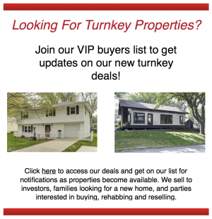 Kansas City MO turnkey properties