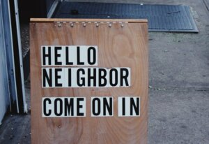 inform neighbors when selling mobile home