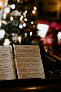 christmas music holiday open house ideas