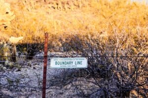 provide boundary line on vacant land