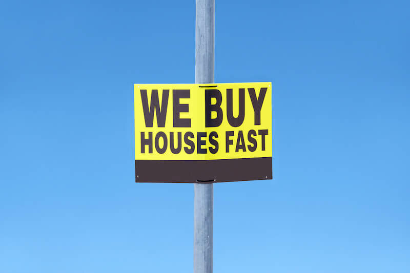 We buy houses fast sign