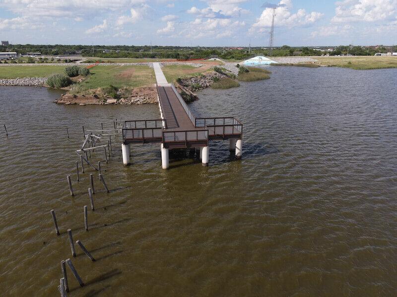 Pier at Lake Wichita Wichita Falls Texas