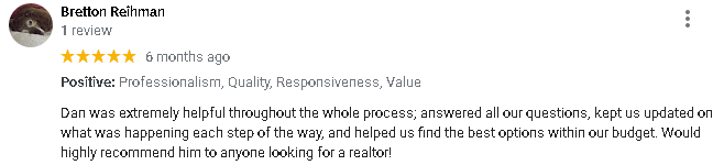 a 5 star Google review for Home Sale Solutions