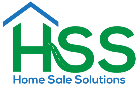 Home Sale Solutions logo that is green and blue