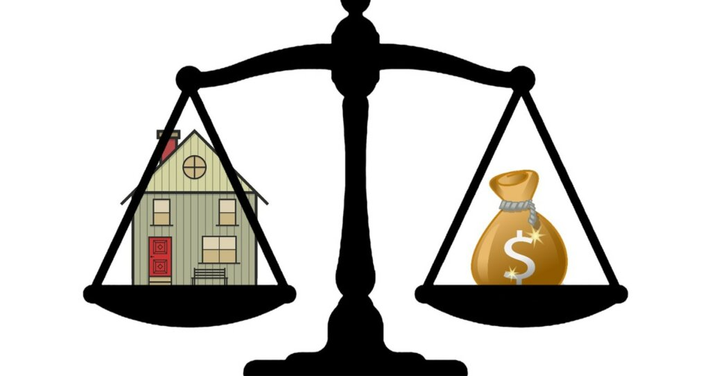 black scale depicting how much will an investor pay for my house