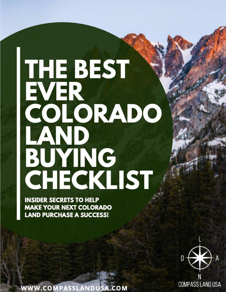 Colorado Land Buying Checklist