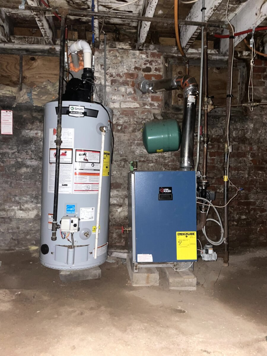 Paterson NJ Boiler and Furnace Unfinished Basement